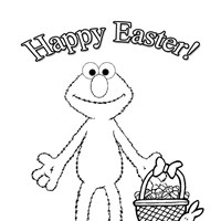 elmo easter coloring page coloring page