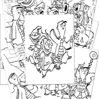 Ed Edd and Eddy Coloring Pages