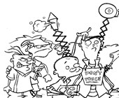 ed edd and eddy 4 coloring page