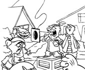 ed edd and eddy outside coloring page