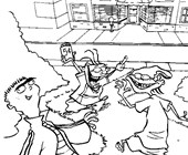 ed edd and eddy playing coloring page