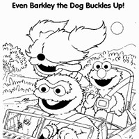 elmo barkely coloring page