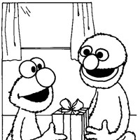 elmo grover coloring page
