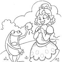 fairy tale princess toad coloring page