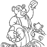 goldy locks coloring page