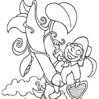 jack and the bean stalk coloring page