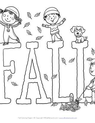 Fall Coloring Pages - Print Fall Pictures to Color | All Kids Network