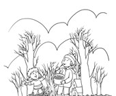 Fall Season Coloring Page