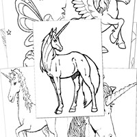 Fantasy Creatures Coloring Pages