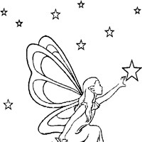 fairy with stars coloring page