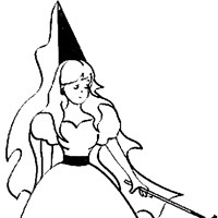 fairy with wand coloring page