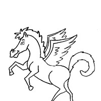 pegasus cartoon coloring page