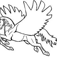 pegasus horse coloring page
