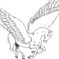 pegasus wings coloring page
