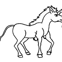 unicorn with beard coloring page