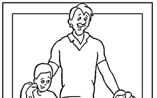 color fathers day coloring page
