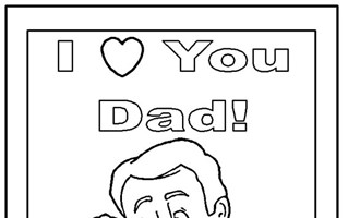 fathers day coloring coloring page