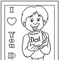 fathers day iloveyou coloring page
