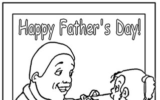 fathers day present coloring page