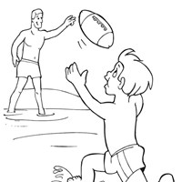 fathers day with son coloring page