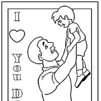 fathersday coloring page coloring page