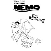 finding nemo tank friends coloring page