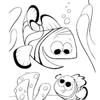 nemo and father coloring page