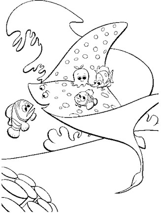 Stingray Coloring page | Coloring pages, Free coloring pages, Color | 440x327