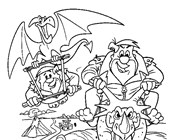 flintstones fred and barney coloring page