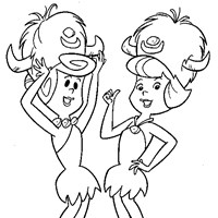 flintstones wilma betty coloring page