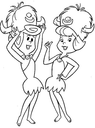 The Flintstones coloring pages on Coloring-Book.info | 440x327