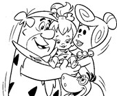 the flintstones coloring page