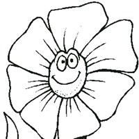 flower coloring coloring page
