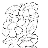 flowers to color coloring page