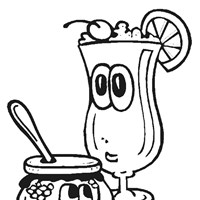 food drink coloring page
