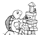 franklin the turtle blocks coloring page