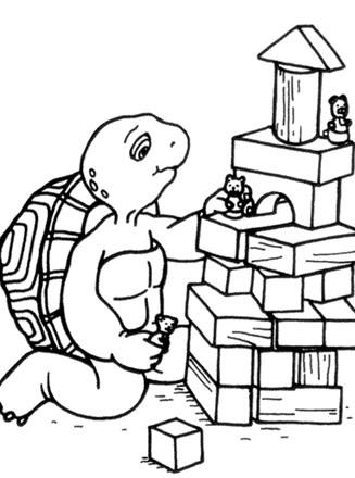 Alphabet Blocks Coloring Pages #4553 ABC Blocks Coloring Pages ... | 440x327
