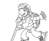 franklin the turtle hockey coloring page