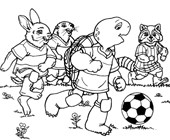 soccer with franklin the turtle coloring page