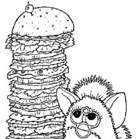 furby big sandwiche coloring page