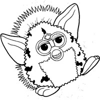furby coloring page