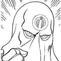 gi joe cobra commander coloring page