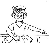 ballerina girl coloring page