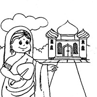girl india coloring page