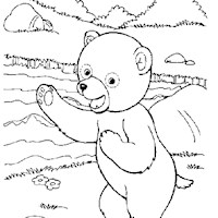 golden book bear coloring page