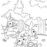 golden book bunnies coloring page