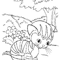 golden book cat coloring page