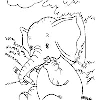 golden book elephant coloring page