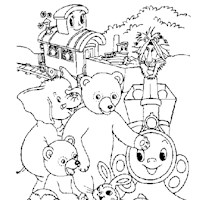 golden book friends coloring page