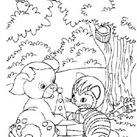 golden book stories 1 coloring page